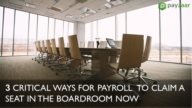 3 Ways for payroll be in the boardroom